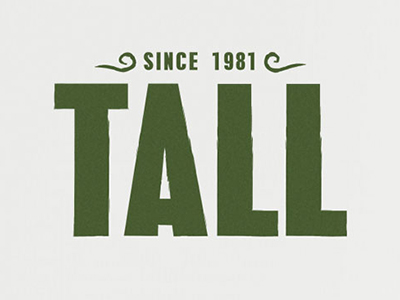 Tall: fictitious beer branding and web design